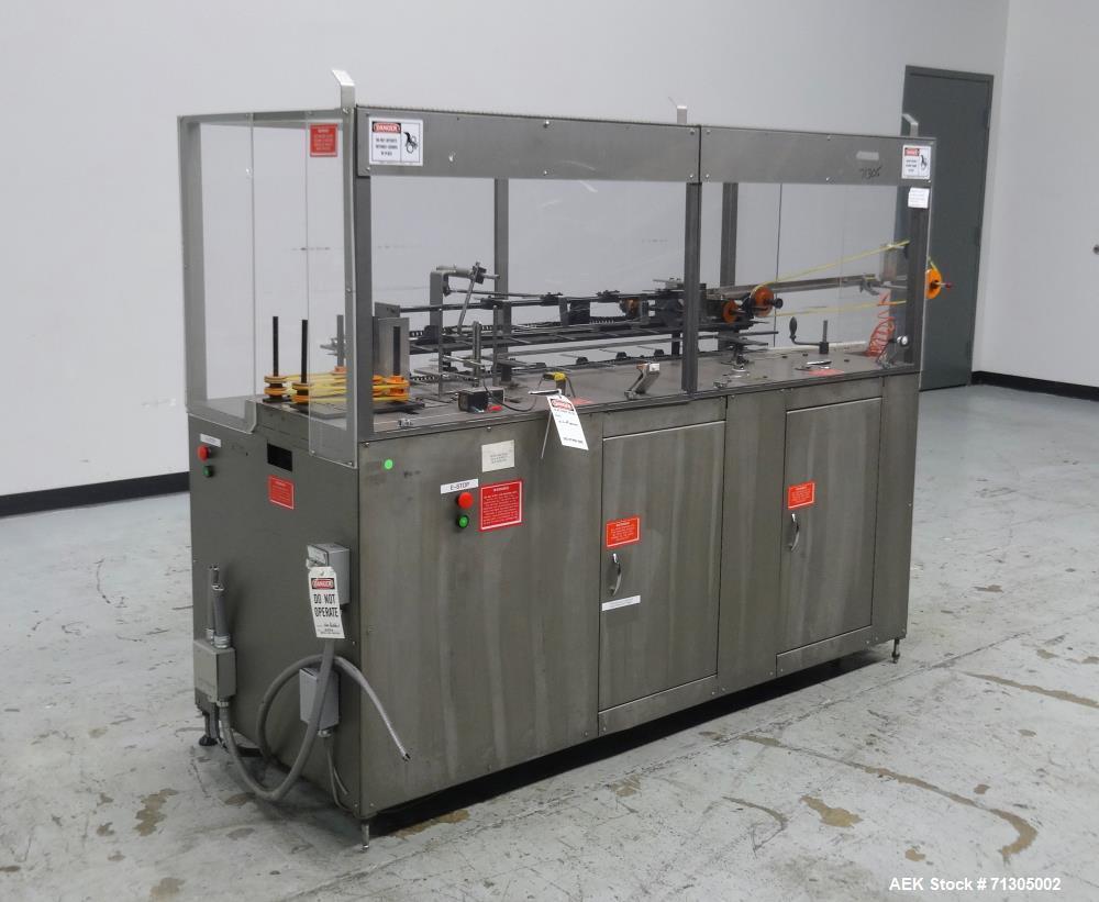 Used- Bivans Model 82 Top Closer Carton Sealer