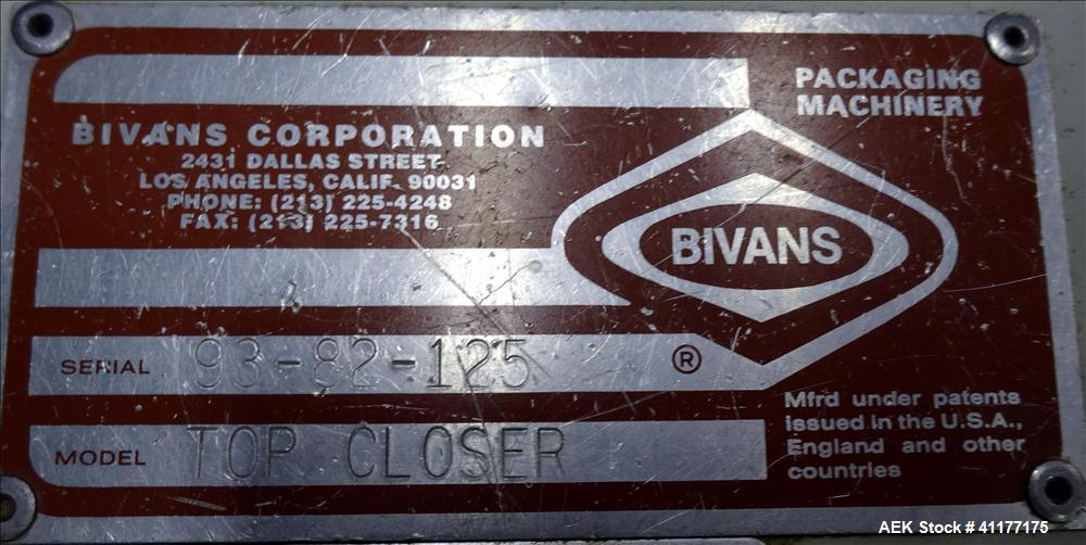 Used- Bivans Model 82 Top Closer
