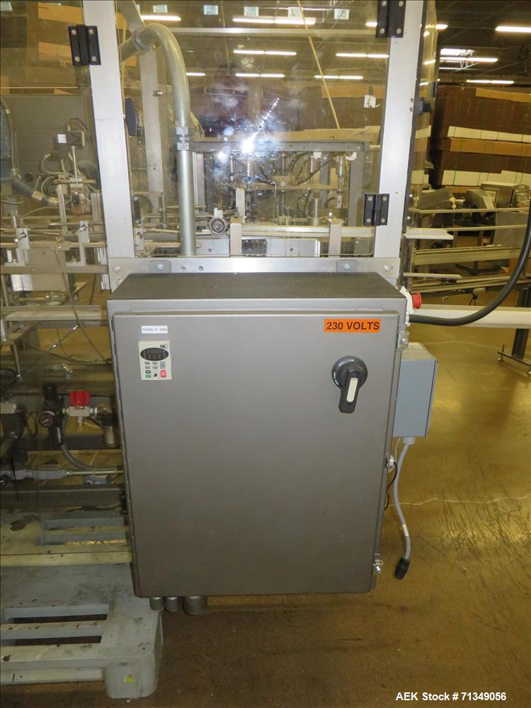 Used- Clybourn Model CHL7 vertical hand load hot melt glue cartoner. Capable of speeds from 10 to 100 cartons per minute.  S...