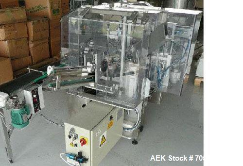 "Used-CMA Minicompact Vertical Vial Cartoner.  Maximum output 35 cartons/minute, vial diameter 1.8"" - 2.6"" (46 - 66 mm), vial..."