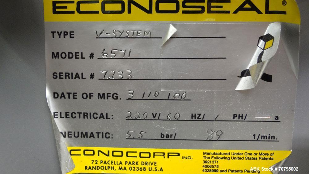 Used- Econocorp Model 6932 V-System Semi Automatic Vertical Cartoner