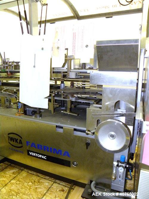 Unused- Fabrima VP-120 Semi- Automatic Continuous Motion Vertical Cartoner.