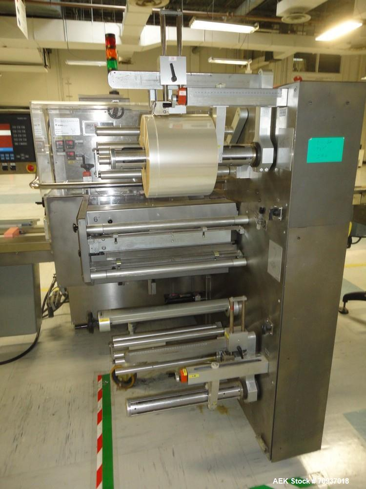 """Used-Jones CMV5 Semi Automatic Continuous Motion Vertical Tuck Cartoner. Capable of speeds up to 120 cpm. Has 5"""" centers for..."""