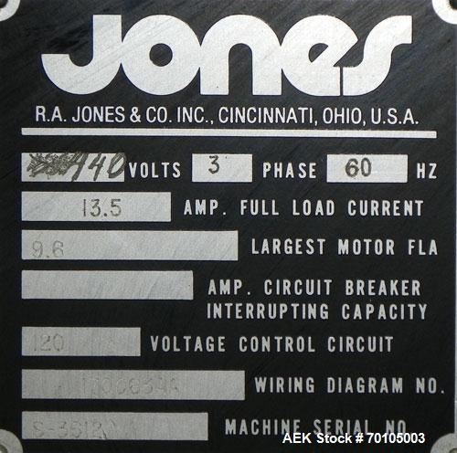 Used- Jones CMV5 Semi Automatic Continuous Motion Vertical Tuck Cartoner