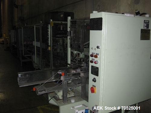 Used-Jones CMV5 Semi-Automatic Continuous Motion Vertical Cartoner capable of speeds up to 120 cartons per minute.  Carton s...