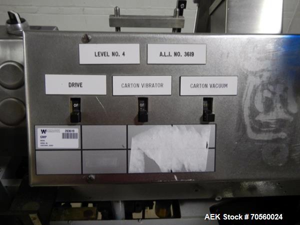 Used- Jones IMV Cartoner with Leaflet Feeder and Bar Code Scanner