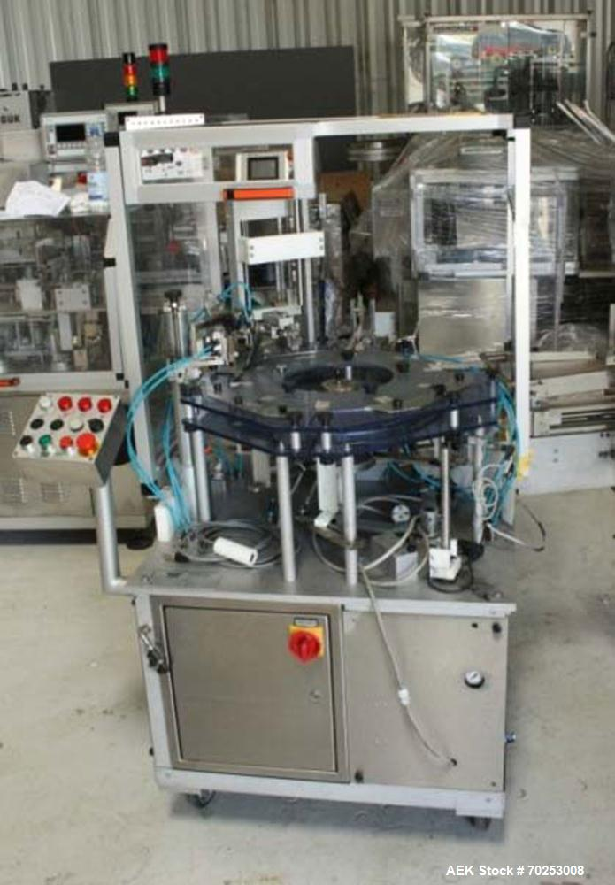 """Used-promatic Ponypack Cartoning Machine with Leaflet Feeder.  Maximum output 60pieces/min.  For carton dimensions 1.9"""" - 7...."""