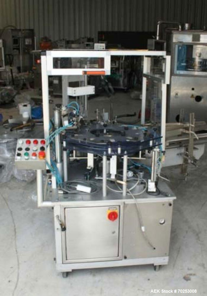 "Used-promatic Ponypack Cartoning Machine with Leaflet Feeder.  Maximum output 60pieces/min.  For carton dimensions 1.9"" - 7...."
