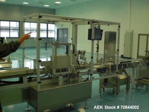 Used-Siebler CV 1/060 Vertical Cartoner with manual loading infeed.   Maximum capacity is 60 cartons per minute.  Carton min...