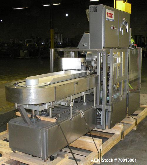 "Used- Tisma Vertical Cartoner, Model TC-50E. Capable of speeds to 200 cartons per minute. Currently set up with 2"" x 5"" x 1...."