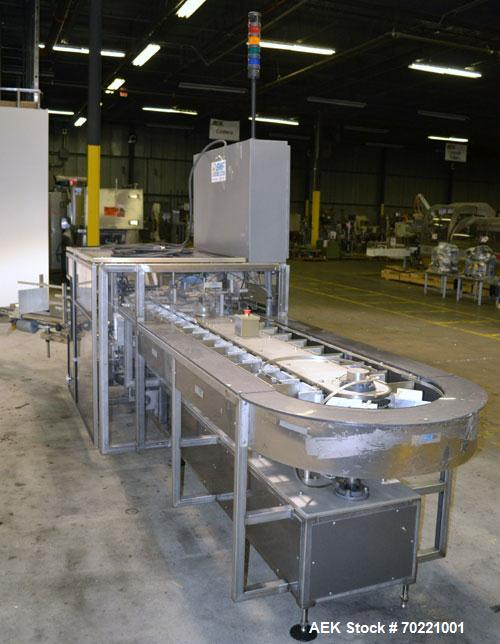 "Used- Tisma (SWF) VT-100-RH Vertical Cartoner capable of speeds up to 200 cartons per minute. Unit has 7.5"" centers for a ca..."