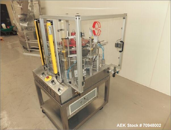 Used-UET Compact 3 Cartoner capable of speeds up to 50 cartons per minute.  Compact unit has a carton size range:  (Length) ...