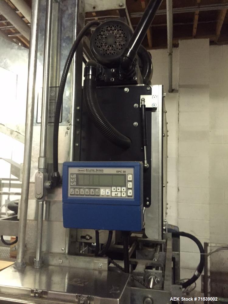 Used- Plemons Bliss Kwik Change Box Machine, Model 3001200. Standard base, approximately 60 boxes per minute. Kwik change cr...