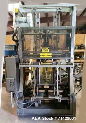 Used- Plemons Bliss Case Erector, Kwik Change design. Includes: vacuum feed attachment, double feed wheels, internal flange ...