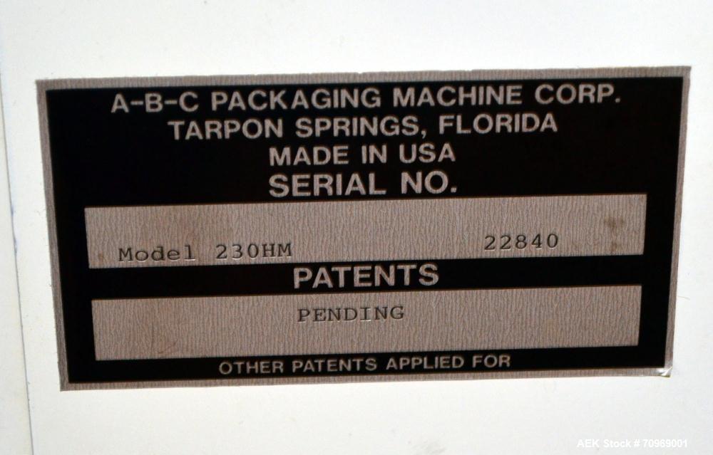 Used- ABC Automatic Case Erector and Hot Melt Bottom Sealer, Model 230HM