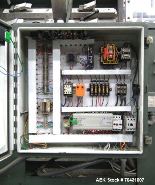 Used-Padlocker Model Caseform 151 Care Erector with Nordson 3500 hot melt glue system.  Electric 3/60/230V.
