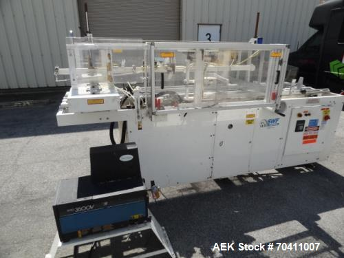 """Used- SWF CE-109 Case erector and hot melt glue sealer. Capable of speeds up to 20 cases per minute. Case range: length 10"""" ..."""