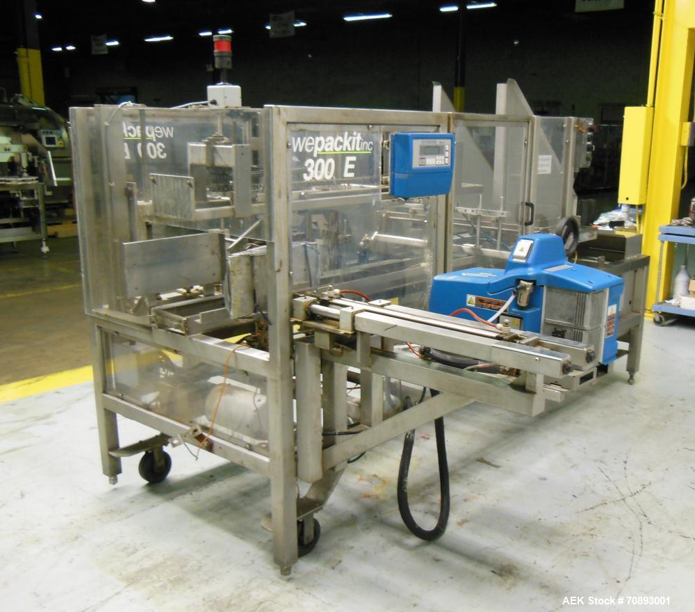 Used- Wepackit Case Erector Bottom (Side) Sealer, Model 300E