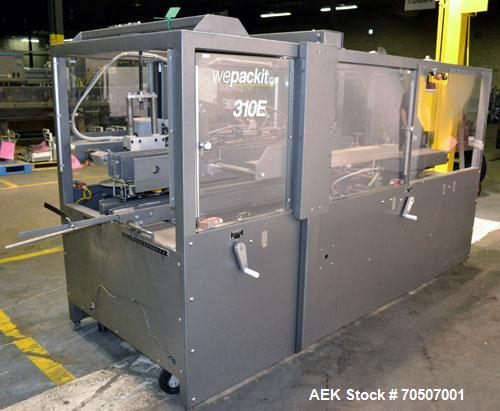 Used- Wepackit Model 310E Mid-Speed Case Erector. Capable of up to 15 cases per minute. Approximate case size range:length 6...