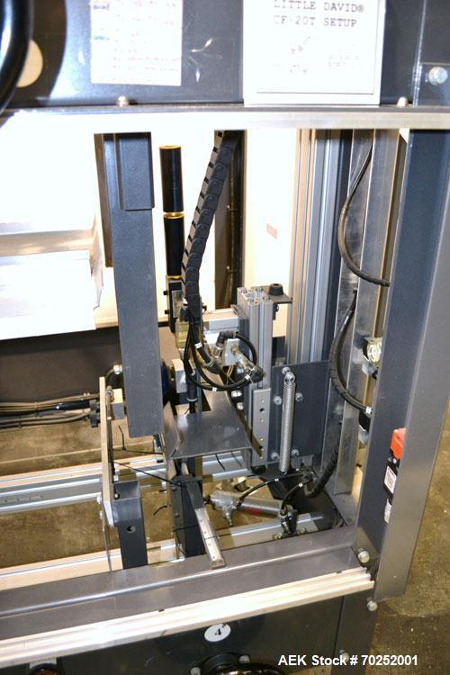 "Used-Little David CF20T Case erector & Bottom Taper. Capable of 6 cases per minute. Case size range: (Length) 6""-16"" (Width)..."