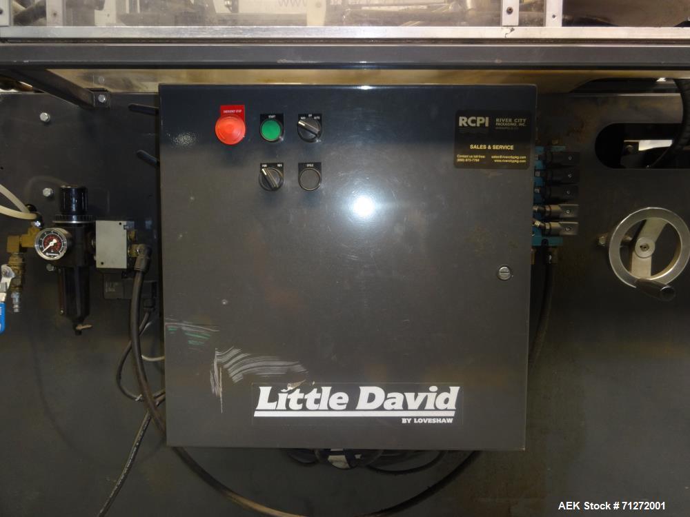 Used- Loveshaw (Little David) Model CF30T Case Erector and Bottom Sealer