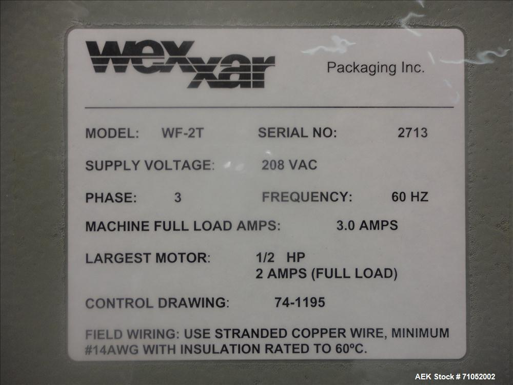 Used- Wexxar Model WF-2T Automatic Case Erector and Bottom Taper