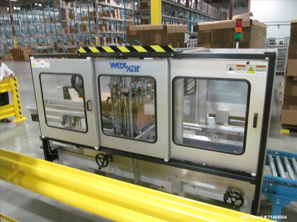 Used-Wexxar Model WF-2TR Automatic Case Erector and Bottom Taper.  Case former is capable of speeds up to 30 cases per minut...