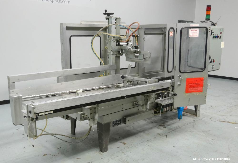 Used- Wexxar WFT Automatic Case Former / Erector With Tape Head Bottom Sealer
