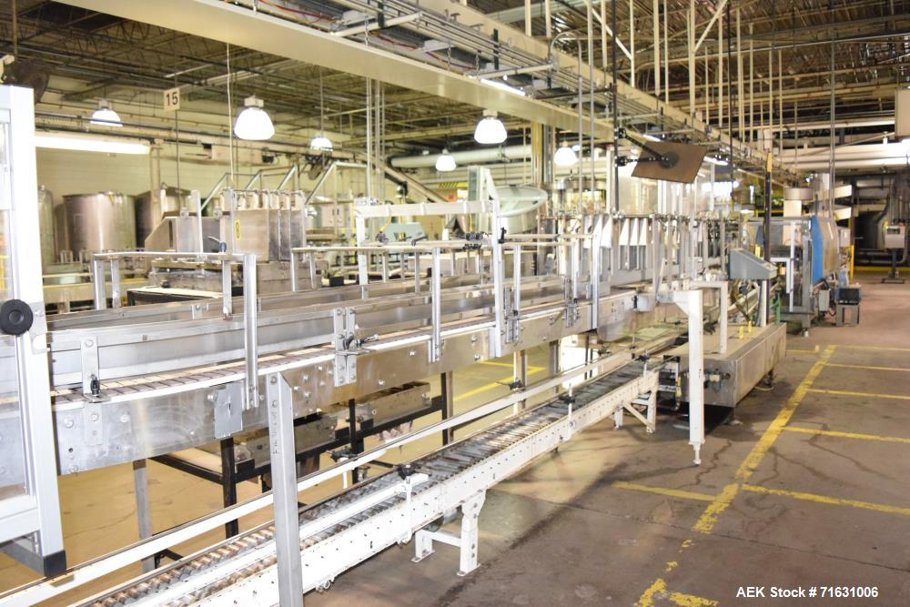 Used-Stainless Steel Drop Case Packer with Lane Conveyor and Change Parts *Controls  Incomplete*