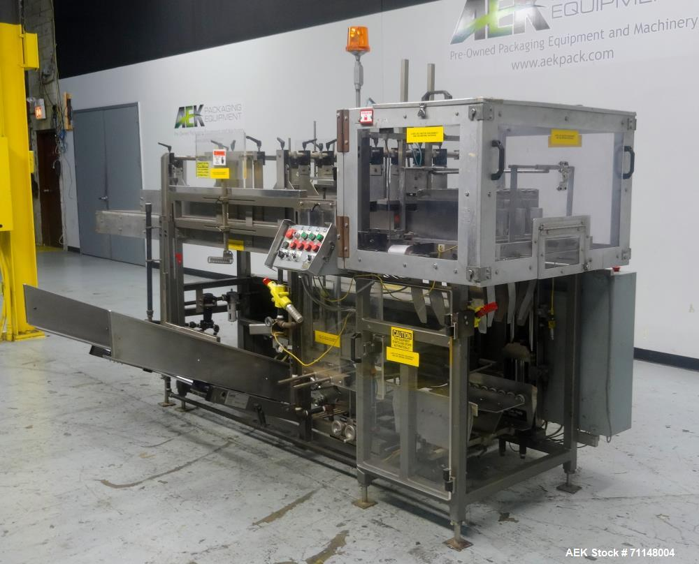 Used- Combi Packaging Systems Model 3DP Case Erector, Bottom Sealer and Drop Pac