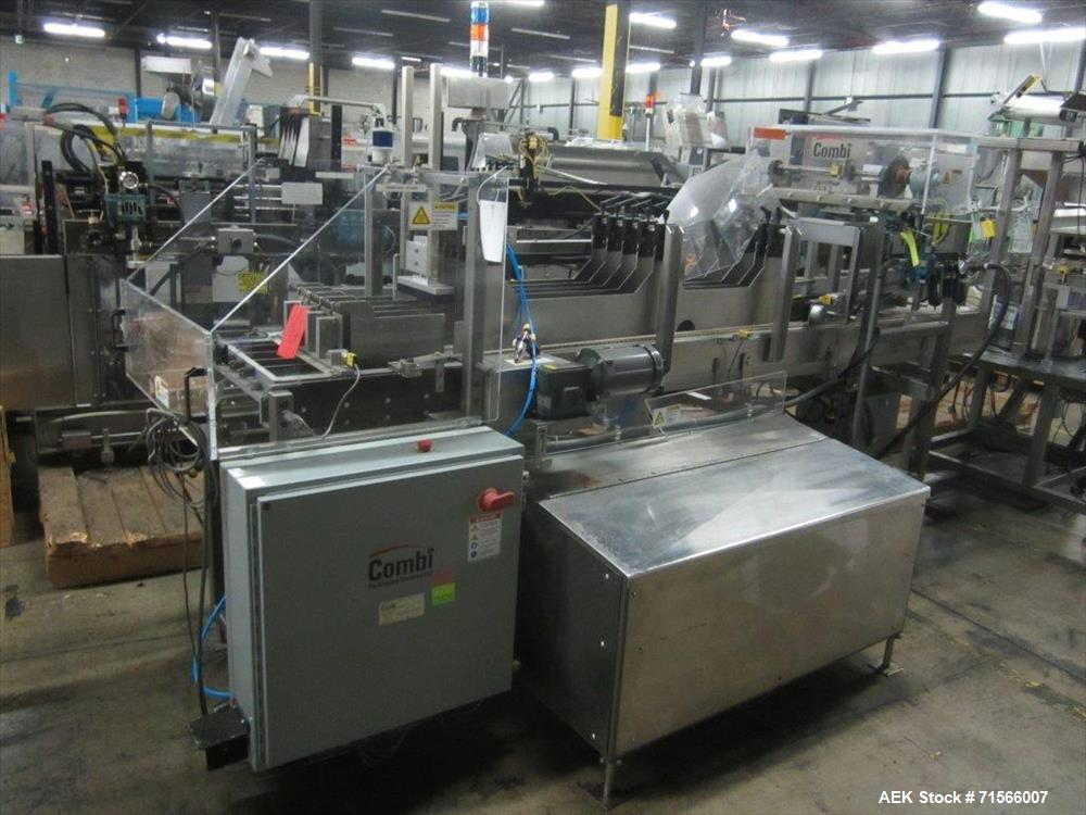 Used-Combi Packaging Systems Model E-2000 combination case erector and drop packer. Capable of speeds up to 15 cases per min...