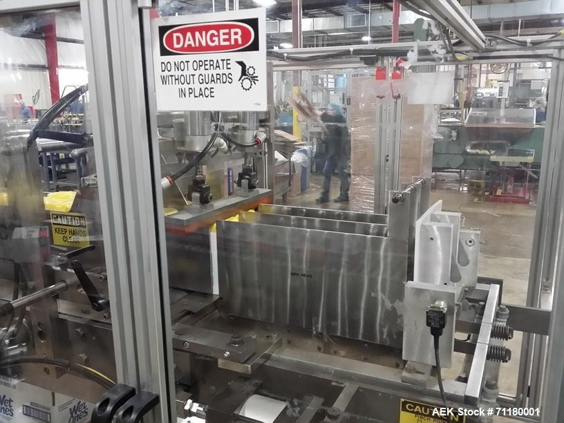 Used _ Hamrick Model 600D Drop Case Packer with Product Laner