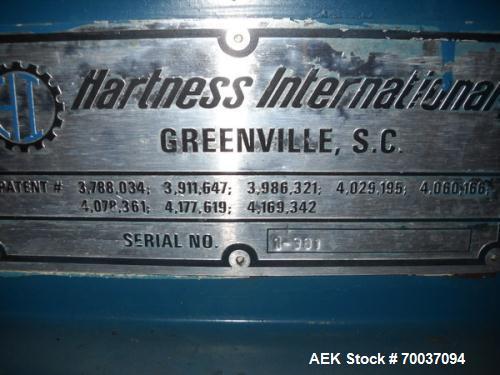 Used- Hartness Drop Case Packer, Model 100 RH. Mild steel frame drop casepacker. Includes grid for approximately 0.5L bottle...