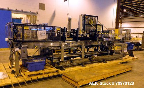 Used- Hartness 825-AT automatic stainless steel drop case packer case packer capable of speeds up to 35 cases per minute (de...