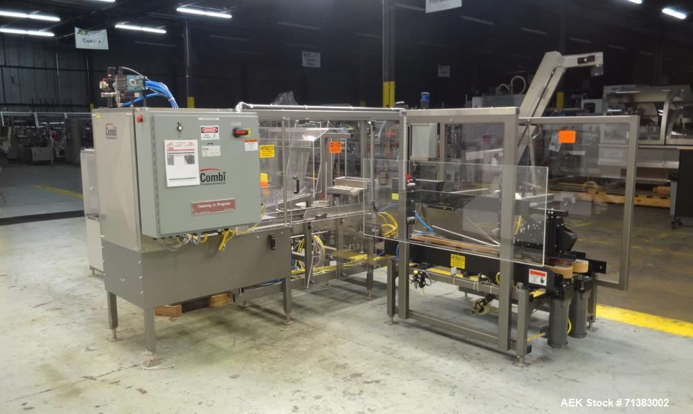 Used- Combi Model 2HL Automatic Case Erector Packer and Sealer