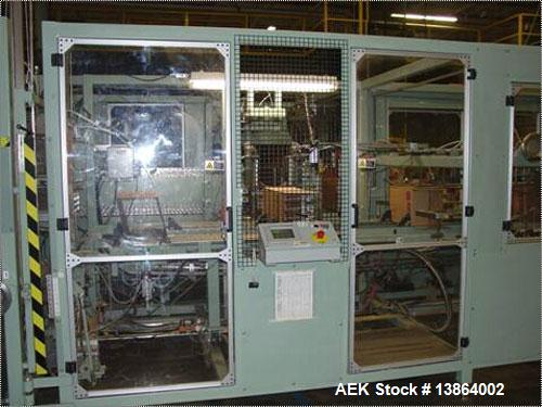 Used-Compacker Case Packer, model Endpacker II-3. Nordson hot melt adhesive, 480 VAC/3 phase/60 hz with 24 VDC control volta...
