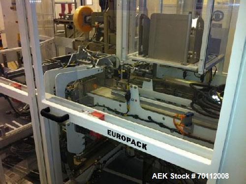 Used-Europak Combined Cartoner with side load case packer