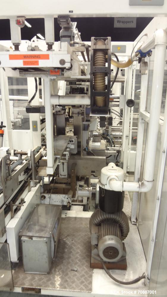 Used- Focke Model 486 Automatic Case Erector, Side Load Packer, and Tape Sealer