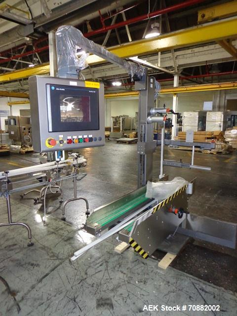 Used- IMA Model CP15 Top Loading Case Packer. Capable of speeds up to 15 cases per minute. Case size range: (Length) 190mm-6...