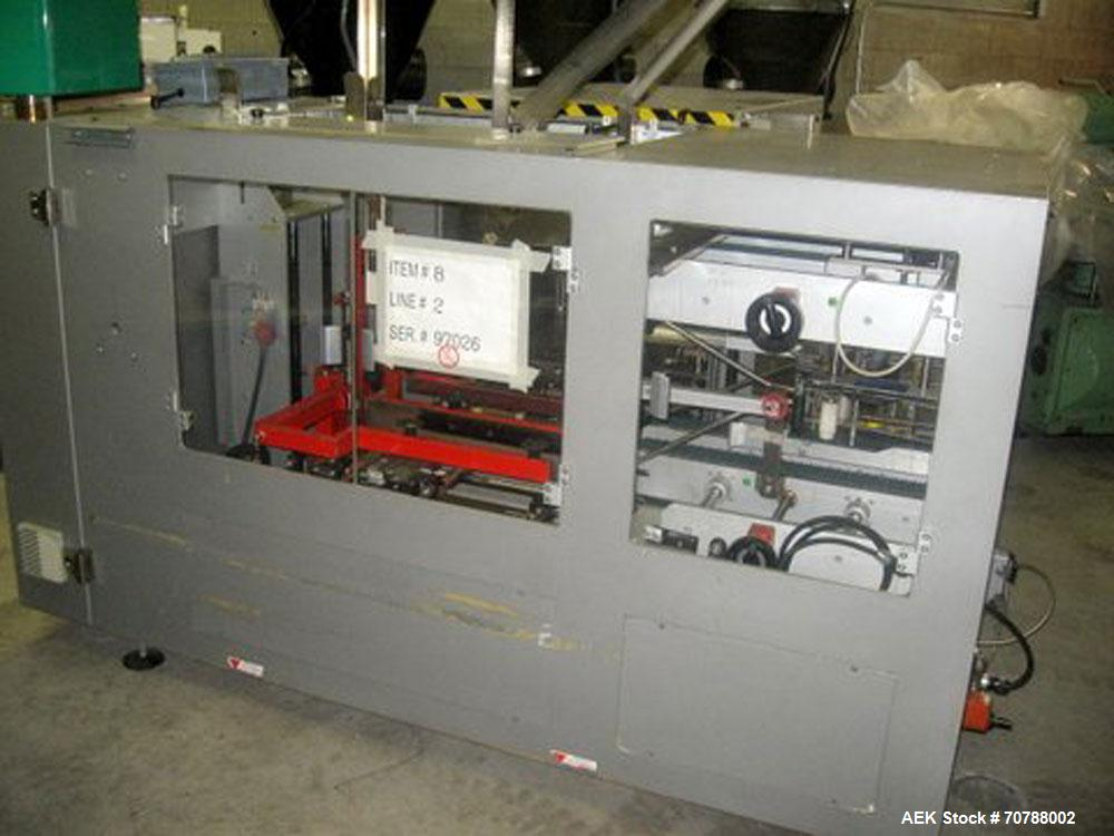 Used-Machesini Case Packer.  575 Volts, 3 phase, 60 hz, includes feeding conveyor.