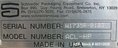 Used- Schneider Horizontal Case Packer, Model HCP-3HIP