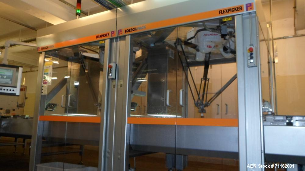 Used- Loesch Flex-Picker Packaging Line. Consisting of (2) ABB Flex-picker with a capacity of max 2x120 pick/min. Siemens Co...