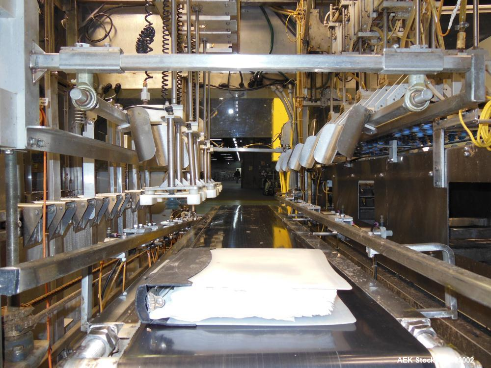 Used- WePackIt Model 400CP Automatic Robotic Top Load Case Packer with Tier Shee
