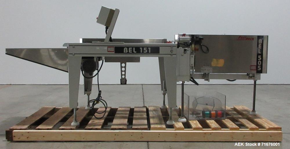 Used- Belcor Model 151-505 Semi-Automatic Case Erector and Bottom Case Sealer