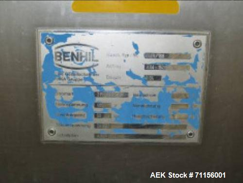 Used- Benhill Packer, Model Multipack 8529. Throughput depending on weight of packages: 0.28 lbs (125 g) 80 packages / minut...