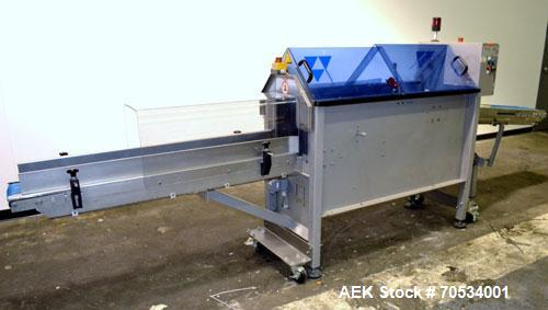 Used- Blueprint Automation Semi-Automatic Bag Collator. Capable of speeds up to 140 bags per minute. Bag size range: Small w...