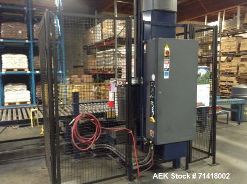 Used- Douglas Case Packer, Model M-3409. 28-30 cases per minute, 128 oz. can/94 oz. can.