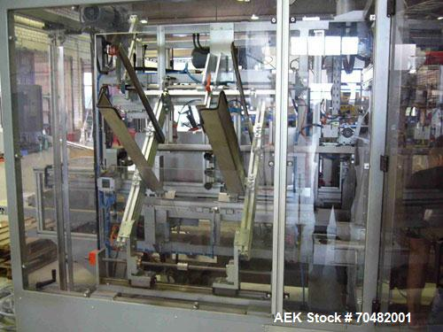 "Used-Gorig Carton Packer. Horizontal product infeed; maximum 25 cases per minute; carton size: length 6-20"" long (120-500 mm..."