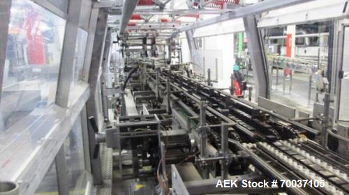 Used-Kisters 80 Cycle Traypacker/Wraparound Casepacker, Model WP-080V. Fully automatic stand alone wraparound packer for pro...