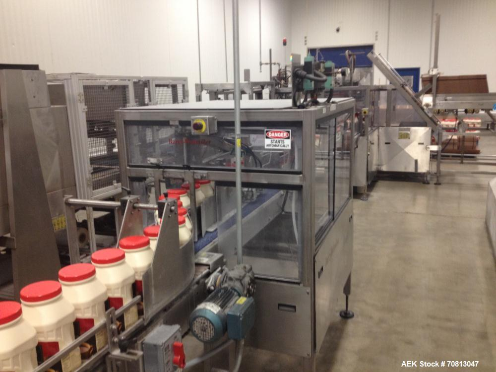 Used-Zepf Technologies (Barry Wehmiller) Model 4000 Wraparound hot melt case packer. Capable of speeds up to 20 cases per mi...
